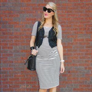 Striped Maternity Dress